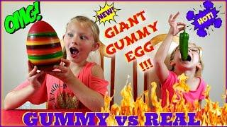 Real Food Vs Gummy Food Challenge - Magic Box Toys Collector