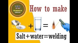 how to make a salt water welding machine at home, very easy it's not difficult