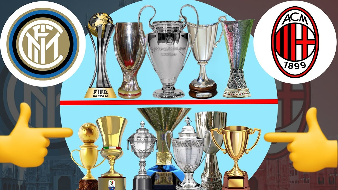 Inter Milan Vs AC Milan All Trophies | AC Milan Vs Inter Milan Head To Head All Trophies Compared 🏆
