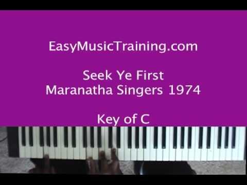 Seek Ye First Keyboard Chords By Karen Lafferty Worship Chords