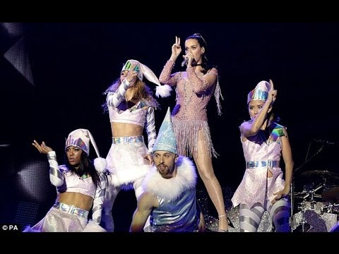 Katy Perry Reveal Very Se*y Fringed Leotard live At Capital FM's Jingle Bell Ball