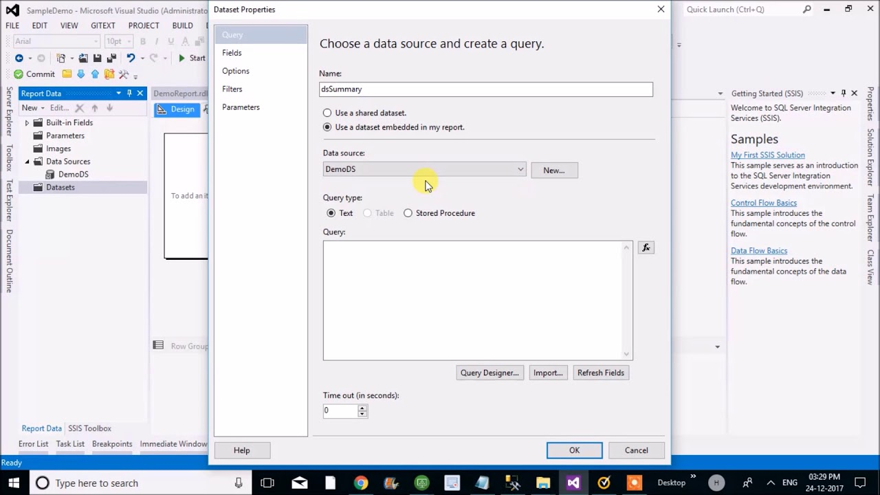 ssrs reports using parameterised stored procedure
