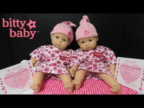 AMERICAN GIRL DOLL Hospital: Bitty Baby Bella + Paisley Come Home From Bitty Baby Hospital