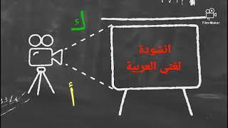 انشودة لغتي العربية : لغتي لغتي ما احلاها ، مكتوبة مع الكلمات و كيفية النطق.