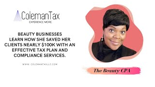 Learn How she saved her clients nearly $100K with an effective tax plan and compliance services!