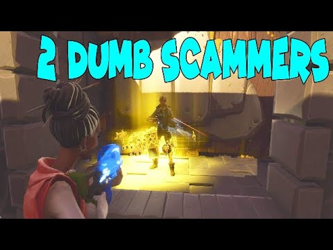 TWO ANGRY SCAMMER GETS SCAMS HARD FORTNITE SAVE THE WORLD