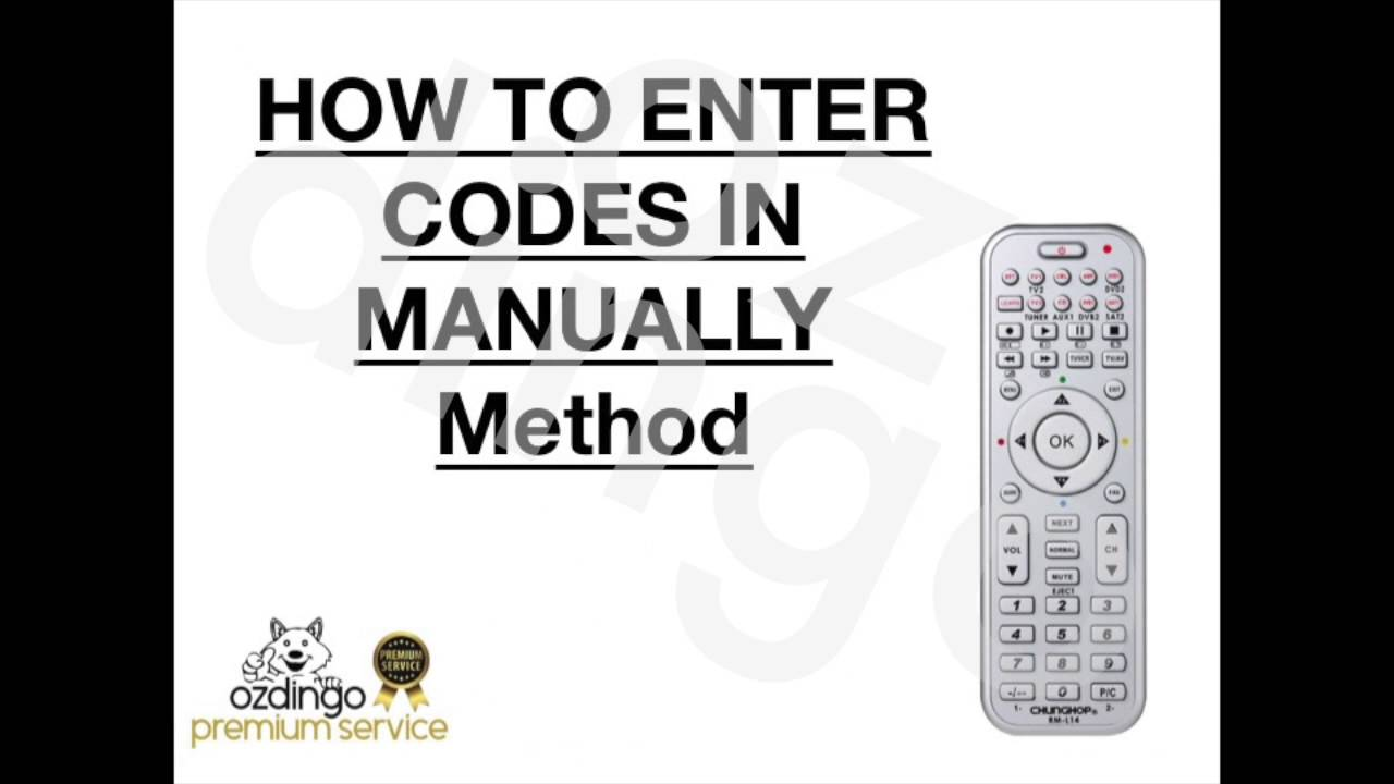 How to setup your universal remote control for tv dvd sat