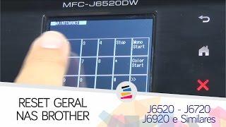 Reset Geral nas Impressoras BROTHER J6520 J6720 J6920 e Similares - SULINK
