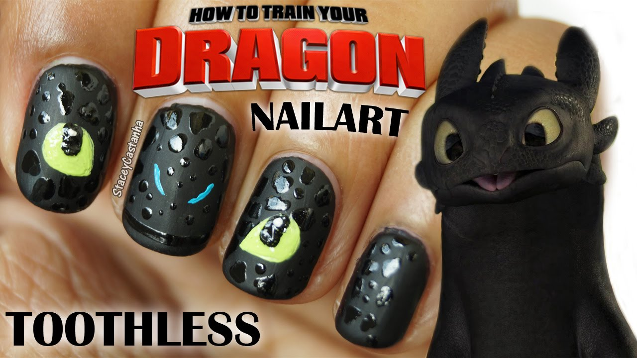 Toothless/Night Fury Nail Art Tutorial | How to Train Your Dragon - YouTube - Toothless/Night Fury Nail Art Tutorial How To Train Your Dragon