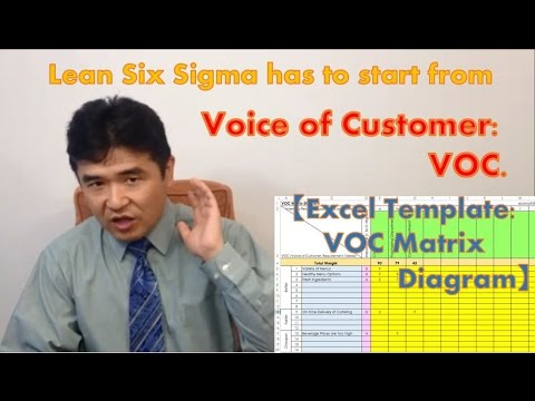 lean six sigma has to start from voice of customer voc excel template voc matrix diagram. Black Bedroom Furniture Sets. Home Design Ideas