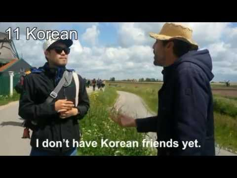 Dutch polyglot speaks 18 languages with tourists