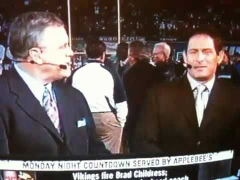 STEVE YOUNG AND MATT MILLEN FIGHT DURING MONDAY NIGHT FOOTBALL