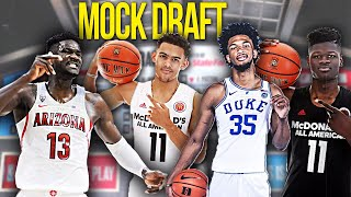 2018 NBA MOCK DRAFT! *BRAWADIS