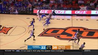 Kansas vs Oklahoma State Men's Basketball Highlights