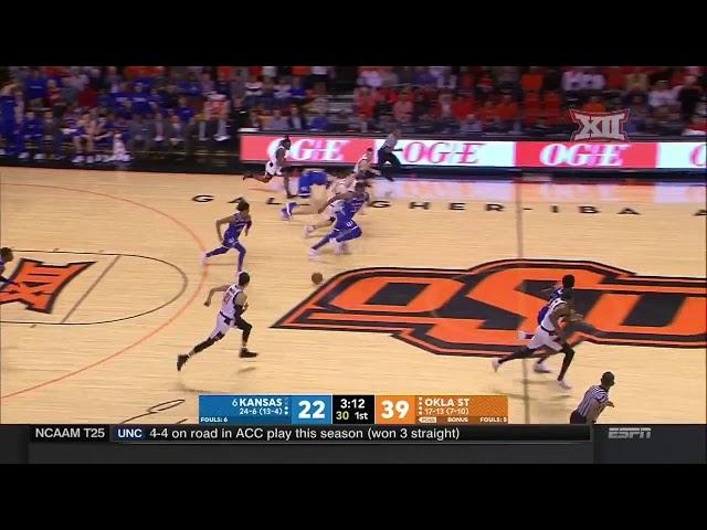 Kansas vs Oklahoma State Mens Basketball Highlights