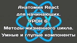 Анатомия React для начинающих. Урок 6. Методы жизненного цикла. Умные и глупые компоненты.