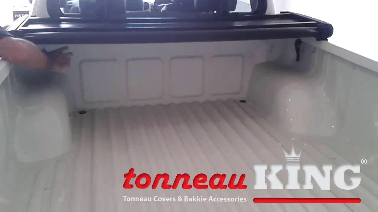 Tonneau King Triton Lockable Soft Tri Fold Tonneau Cover Youtube