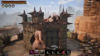 Conan exiles imp purge on top of a mountain