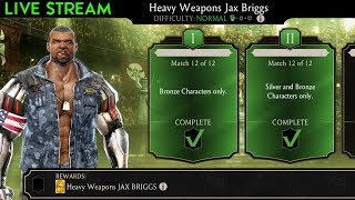 Mortal Kombat Mobile Live Stream. Small Pack Opening + Heavy Weapons Jax Challenge Gameplay.