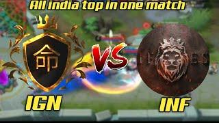 India no1 gusion + India no1 Leo + India no1 grock vs India no1 kaja - IGN vs INF
