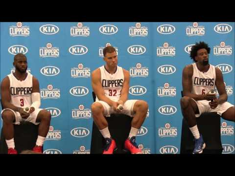 Los Angeles Clippers Media Day: Chris Paul, Blake Griffin, DeAndre Jordan