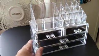 Review - Allewie Transparent Acrylic Cosmetic & Jewelry Storage Boxes Makeup Organizer
