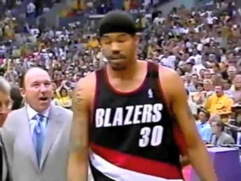 Whack! Get out!  Rasheed ejected by Ron Garretson.