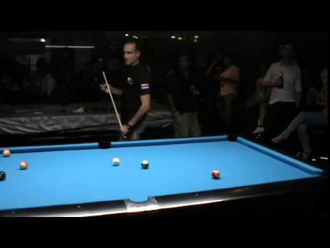 Ahmed Galal - Jimmy White Pool exhibition in Hustlers