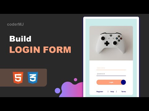 Create Responsive Login Form In HTML And CSS | HTML Forms | Learn CSS