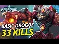 DROGOZ BASIC BUILD! 140K Damage and 33 KILLING BLOWS?! | (Paladins Drogoz Gameplay)