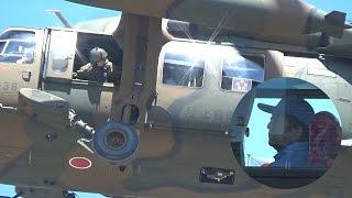 安倍総理まさかの大型バス(窓際)で退場、そして陸自UH-60で去る さいたま市/第37回九都県市合同防災訓練