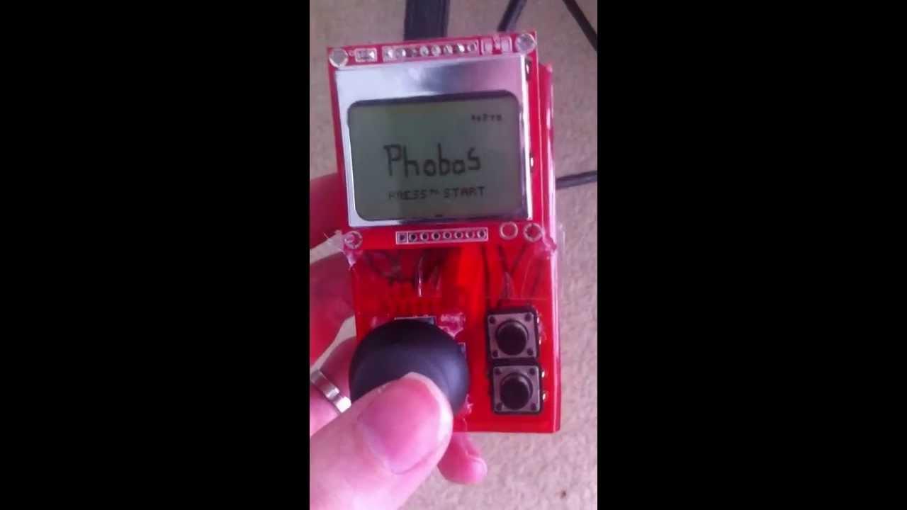 Phobos arduino gameboy style prototype intro youtube
