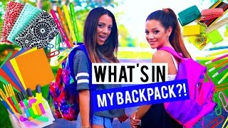Back to School: WHAT'S IN MY BACKPACK?! + School supplies Haul 2015! Niki and Gabi