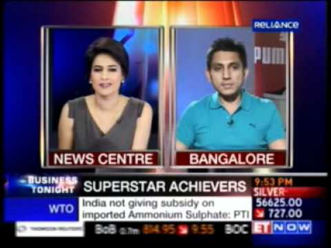 1105992 ET Now Business Tonight 26 May 2011 09min 47sec Mr  Rajiv Mehta   MD, Puma India 21 48pm
