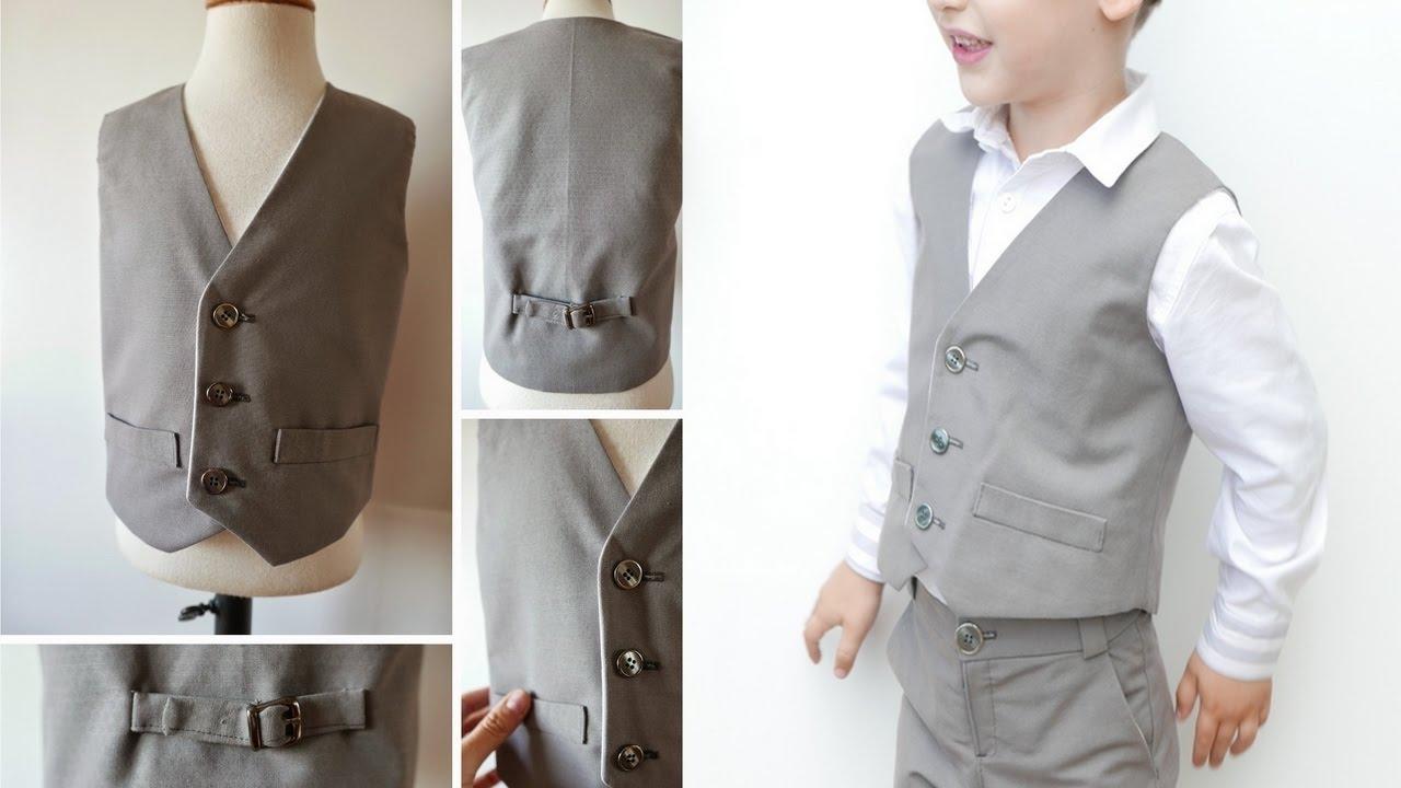 Tutorial para coser un chaleco para niños - YouTube