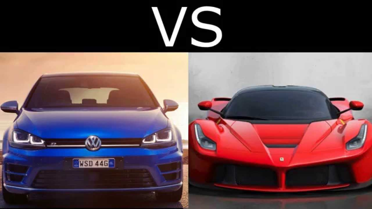 ferrari laferrari vs volkswagen golf r hgp 700hp. Black Bedroom Furniture Sets. Home Design Ideas