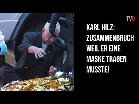 Schwächeanfall bei Karl Hilz, nachdem Berliner Polizei ihm Maske aufsetzte