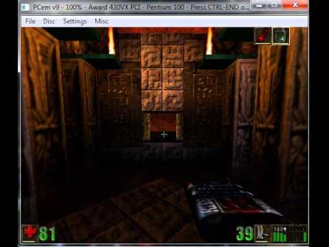 PCem (PC Emualtor) running Unreal (3DFX) : Games