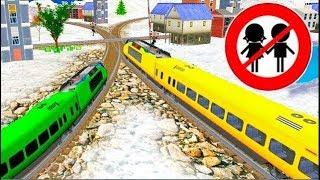 Мультики. Развивающие видео про машинки и поезда.