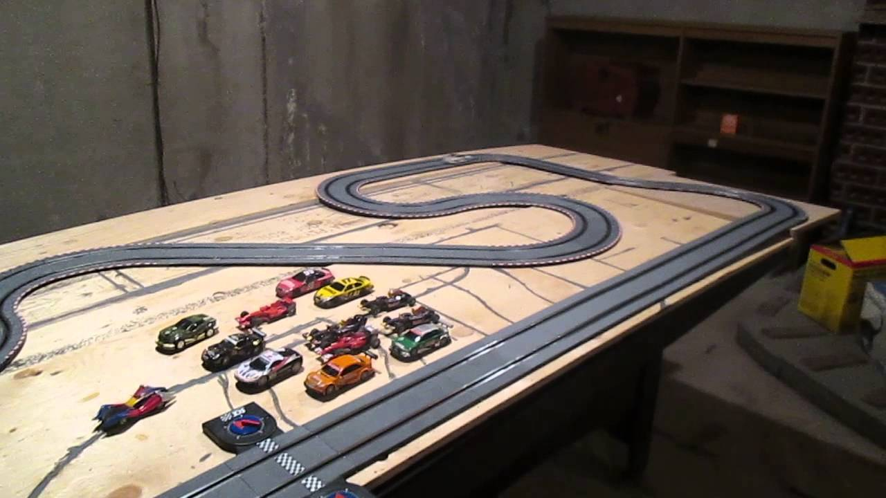 1 43 painted track scx carrera mix youtube. Black Bedroom Furniture Sets. Home Design Ideas