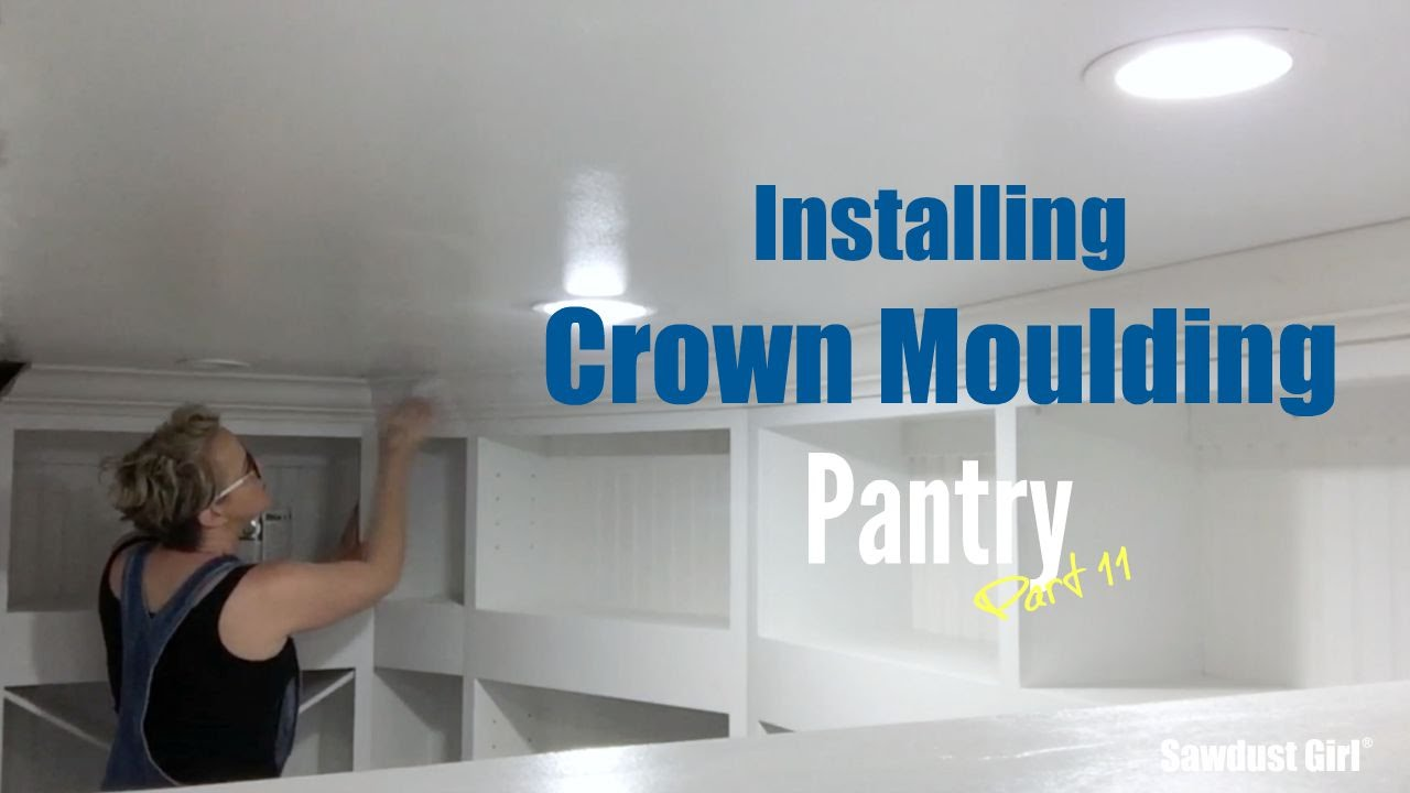 Installing Crown Moulding - Pantry - Part 11 - YouTube
