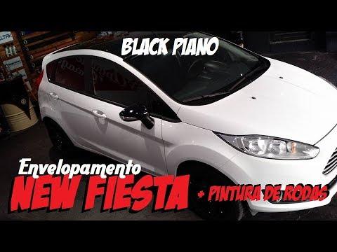 Envelopamento New Fiesta Black Piano Mais Pintura De Rodas
