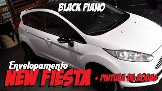 Envelopamento New Fiesta Black Piano mais pintura de rodas. UPGRADE GARAGE Envelopamento ;)