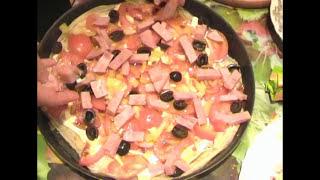 Приготовление пиццы в домашних условиях(Приготовление пиццы в домашних условиях пошаговый видео рецепт от Ольги Блэк(OLGA BLACK) Пицца это открытый..., 2013-05-28T06:33:02.000Z)