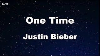 One Time - Justin Bieber Karaoke 【No Guide Melody】 Instrumental