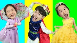 공주 왕자 얼굴 맞추기 퍼즐 게임 wrong  Princess Prince puzzle like BoramTube!-- 마슈토이 Mashu ToysReview
