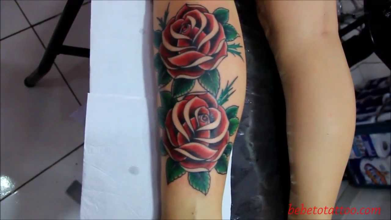 Bebeto Tattoo Studio Tattoo De Rosas Old School Da Andreia Rose