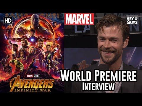 Chris Hemsworth Thor on the emotional, nostalgic Avengers Infinity War  Premiere