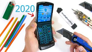 2020 Moto RAZR Durability Test! - Will the Folding Icon Survive!?