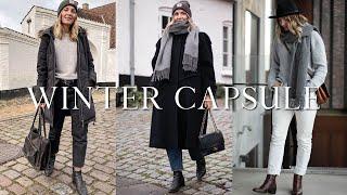 A simple winter capsule wardrobe | 36 items